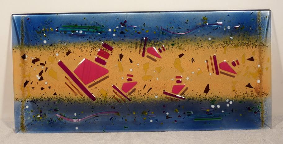 Applique murale en verre